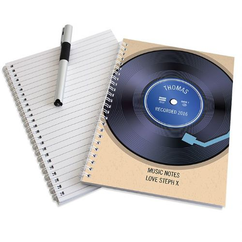 Personalised Retro Vinyl Notebook